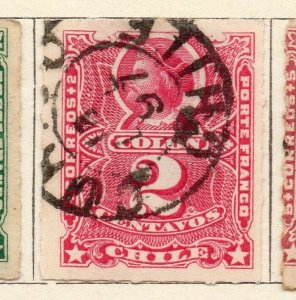 Chile 1881 Early Issue Fine Used 2c. NW-11400