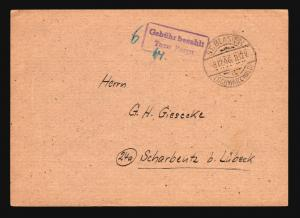 Germany 1946 TAXE PERCUE Stampless Card (IV) - Z14760