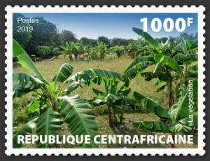 Central Africa - 2019 Local Vegetation - Stamp - CALC190103a