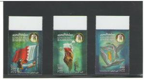 BAHRAIN:  Sc.720-22 /**NATIONAL  DAY**/  Complete Set /MNH