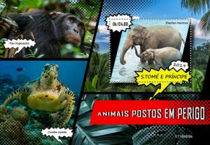 SAO TOME - 2019 - Endangered Species - Perf Souv Sheet - MNH