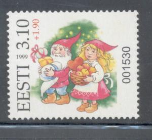 Estonia Sc 384A 1999 Christmas Lottery mint NH
