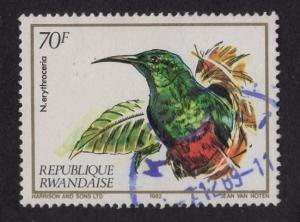 Rwanda  #1139   1983  used  nectar-sucking birds 70fr nectar bird