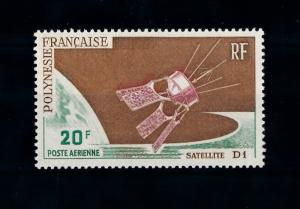 [71581] French Polynesia 1966 Space Travel Satellite D1 Airmail Stamp MNH