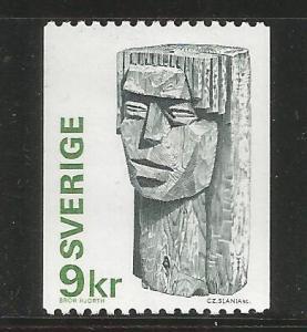 SWEDEN, 1177, MNH, GUM DAMAGE, GIRLS HEAD, BY BROR HJORTH 1922