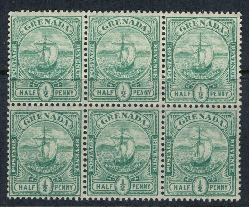 Grenada #68* NH  Block of 6  CV $31.50