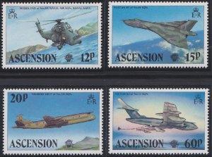 Ascension 332-335 MNH (1983)