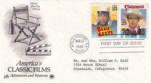 1990, Classic Films-Beau Geste, Stagecoach, Art Craft/PCS, FDC (E11369)