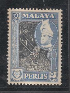 Malaya Perlis 1957 Sc 36 50c MH