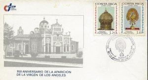 COSTA RICA CORONATION VIRGIN of LOS ANGELES,CROWN,SCULPTURE,Sc C692-3 COVER 1985