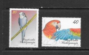 BIRDS - MACEDONIA #511-12   MNH