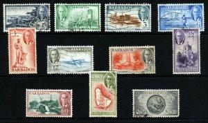 BARBADOS King George VI 1950 The Complete  Set SG 271 to SG 282 VFU