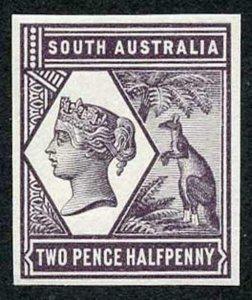 South Australia 1894 2 1/2d Colour Trial in light purple no wmk Paper Fresh U/M