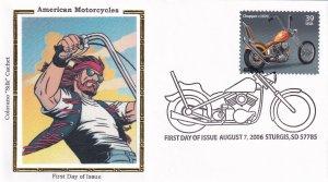 2006, American Motorcycles-Chopper, Colorano Silk, FDC (E11866)