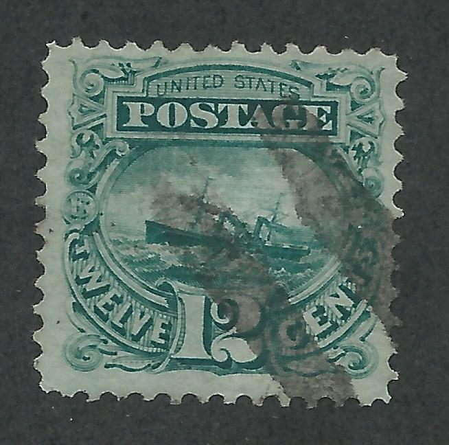 117 Used,  12c. S.S. Adriatic,  scv: $120