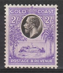 GOLD COAST 1928 KGV CASTLE 2/-
