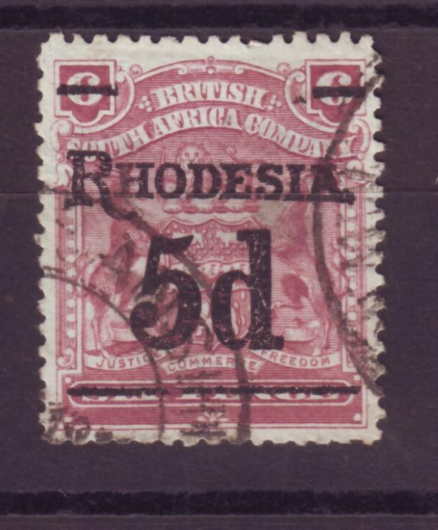 J17071 JLstamps 1909 rhodesia used #88 ovpt