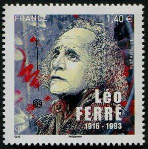 HERRICKSTAMP NEW ISSUES FRANCE Sc.# 5091 Leo Ferre
