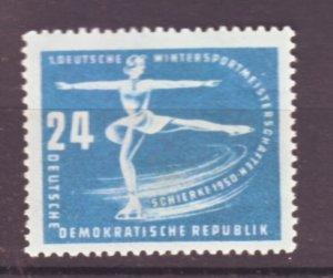 J22477 Jlstamps 1950 germany ddr hv of set mnh #52 skater