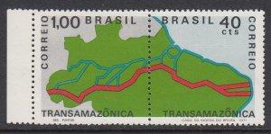 Brazil 1189-90 Trans-Amazon Highway mnh