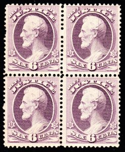 US O107 6c Justice Department Mint Block of 4 F-VF OG LH SCV $2250