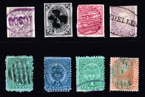 COLUMBIA STAMP USED STAMP COLLECTION LOT