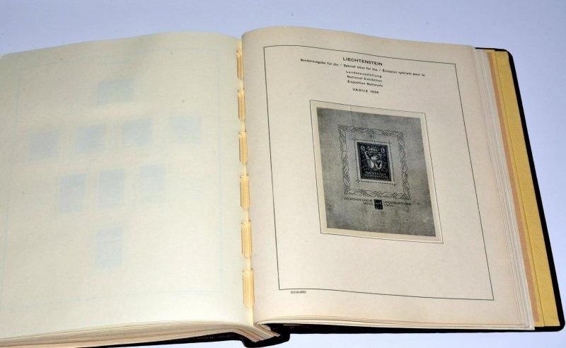 Liechtenstein: Schaubek Hingeless album & Pages 1912 to 1992   *Superb condition