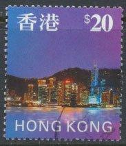 Hong Kong  SG 862 Sc# 777 Hong Kong Skyline $20  Used / FU see detail & scan
