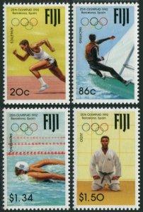 Fiji 665-668,MNH.Michel 660-663. Olympics Barcelona-1992.Running,Yachting,Judo,