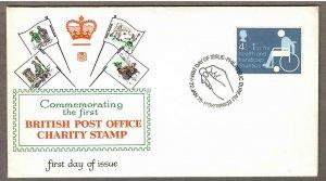 UK Semi-Postal # B1 , Health and Handicap Charities FDC - I Combine S/H