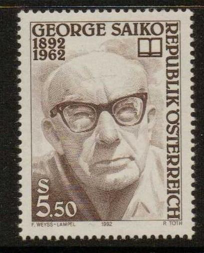 AUSTRIA SG2285 1992 BIRTH CENTENARY OF GEORGE SAIKO   MNH