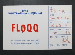 6434 Amateur Radio QSL Card WPX Pedition to Djibouti Africa
