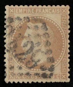 1863-1870, Emperor Napoléon III, 10 c, YT #28 (T-6685)