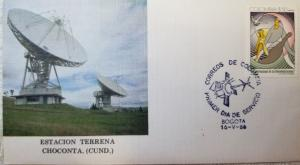 L) 1986 COLOMBIA, INTERNATIONAL DAY OF TELECOMMUNICATIONS, ANTENNAS, CHOCONTA