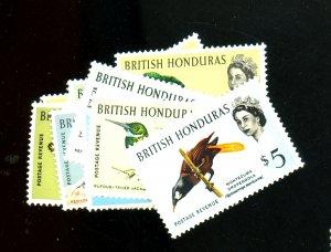 BRITISH HONDURAS #167-178 MINT F-VF OG LH Cat $86
