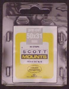 Scott/Prinz US Jumbo Horizontal Stamp Mounts Size: 50x31 Clear #907 C