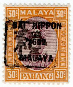 (I.B) Malaya States Revenue : Pahang 30c (Japanese Occupation)