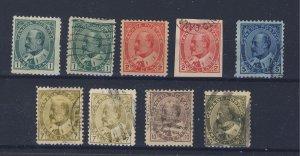9x Canada Edward VII Stamps #89x2 90 90a 91-92-92ii-93-94 Guide Value = $100.00