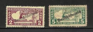 Austria Special Handling 1919 Scott# QE5-QE6 MH