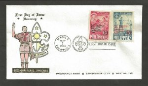 1961 Boy Scouts Philippines 2nd Jamboree FDC Pasananca Park cancel 10