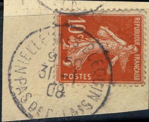 FRANCE - 1908 - CàD  NIELLE LES BLEQUIN / PAS DE CALAIS  /Yv.137 /fragment TB
