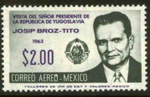 MEXICO C275, Visit of Marshall Tito of Yugoslavia..MINT, NH. F-VF..