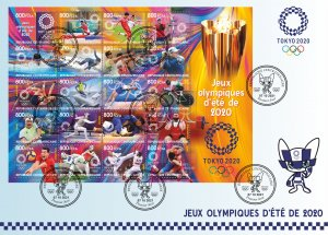 FDC.Cover.Stamps. Olympic Games 2020 in Tokyo 2021 year Tsar New
