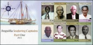 Anguilla. 2013. Anguilla Seafaring Captains (Part One) (MNH OG) Miniature Sheet