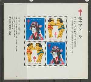 Japan Cinderella seal TB Charity revenue stamp 5-03-18 mint