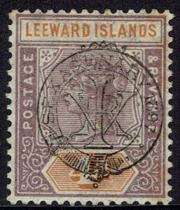 LEEWARD ISLANDS 1897 QV DIAMOND JUBILEE 4D