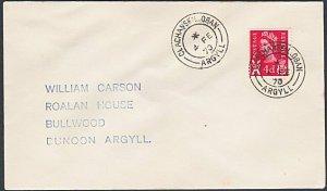 GB SCOTLAND 1970 cover CLACHAN SEIL / OBAN ARGYLL cds...................k638
