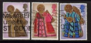 Great Britain Sc 680-21972 Christmas stamps used