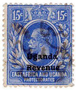 (I.B) KUT Revenue : Uganda Duty 15c (1918)