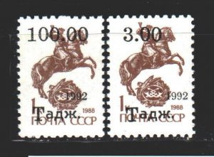 Tajikistan. 1993. 9-10. Mail, standard. MNH.